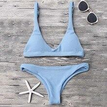 Push Up Padded Scoop Neck Brazilian Bikini