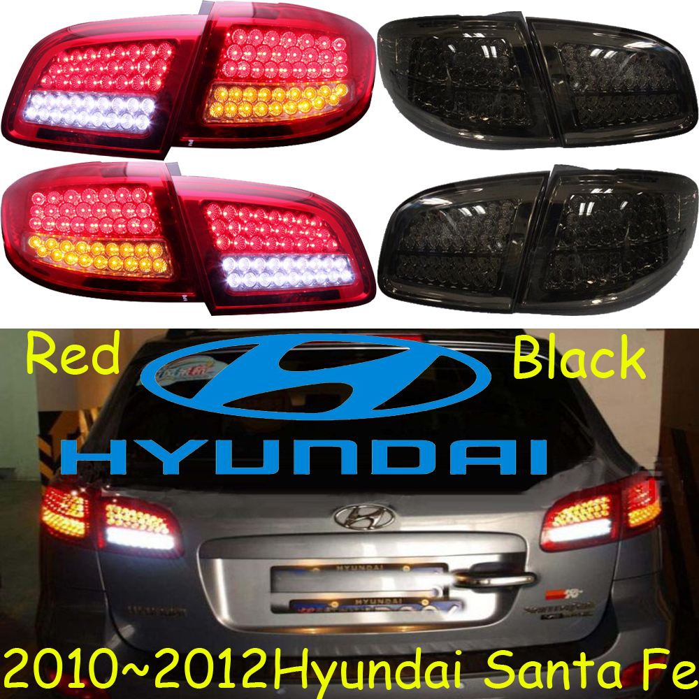 car-styling,Santa Fe Taillight,2010~2012,led,Free ship!4pcs,Santa Fe fog light;car-covers,Santa Fe tail lamp,Chrome;SantaFe car styling golf6 taillight 2011 2013 led free ship 4pcs golf6 fog light car covers golf7 tail lamp touareg gol golf 6