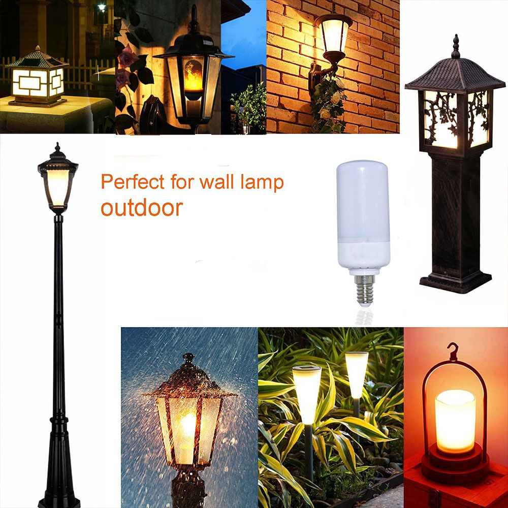 Eco-Friendly Luminous LED Bulb Light Bulb 5W Flame Simulation Three Modes Warm Glow Indoor Outdoor Decor Haunted House Supply