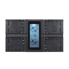 Andoer NP FW50 NPFW50 4 canaux LCD chargeur de batterie de caméra numérique pour Sony A7 A7R A7sII A7II A6500 A6300 A7RII NEX Series
