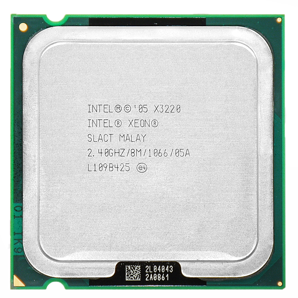 Intel Xeon X3220 2.4GHz LGA 775 8MB L2 Cache quad-CORE 105 Wworking 100% Free Shipping