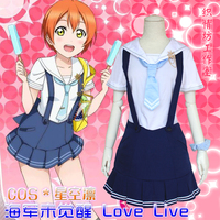 LoveLive Unawakened Marine Navy Hoshizora Rin Cosplay Costume Japanese Anime Love Live Uniform Outfit Suit Clothes