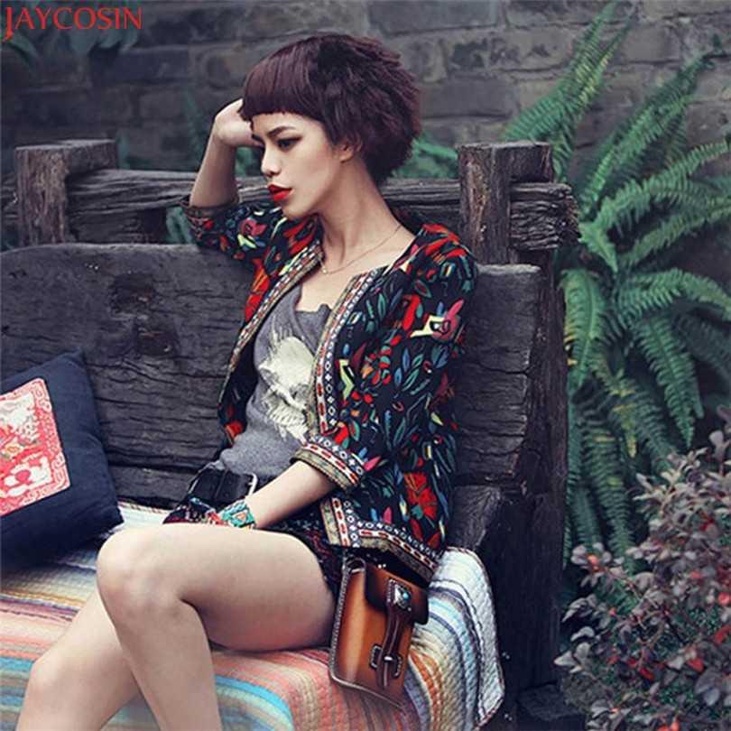 Женская одежда в винтажном стиле куртка с вышивкой винтажное свободное Ретро гофрированное пальто с длинными рукавами с меховыми шариками Повседневная Верхняя одежда Топы