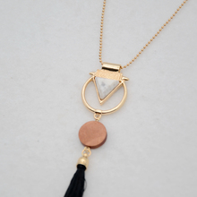 Geometric Designed Tassel Necklace