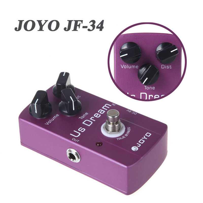 JOYO JF-34 US Dream American distorted electric guitar distortion pedal / Effect pedal Guitar Parts & Accessories joyo jf 34 high gain distortion us dream guitar effects with 3 knobs