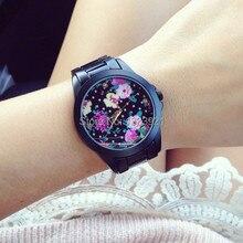2014 hottest moda flor del dial del reloj nueva llegada ginebra mujeres del reloj casual reloj de pulsera de cuarzo venta caliente
