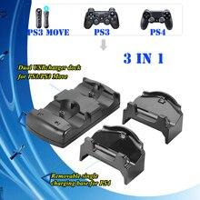 3076e3428f198 5 In 1 Şarj şarj standı Istasyonu için Sony Play Station 4  PS4/Pro/Ince/PS3/PS3 hareket Kablosuz Kontrol Aksesuarları