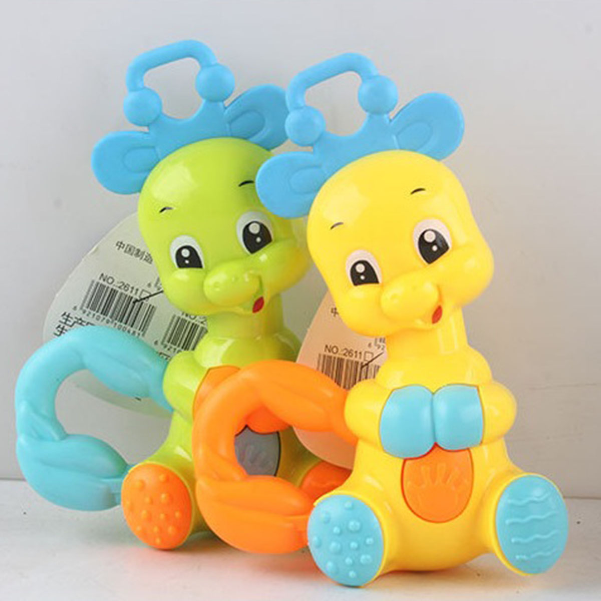 Baby Rattles Mobiles Funny Educational Toys Infant Baby Rattles Grasping Soft Plastic Handing Crib Bell Rattle Birthday Gifts