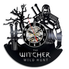 The Witcher Gift Wall Clock Vinyl Record Art Decor Vintage LED with 7colors