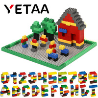 YETAA Assorted Shapes & Colors Bulk Building Bricks Minecraft Legoed figures DIY Building Blocks Construction Toys for Children
