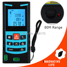Cheapest prices Digital Laser Meter 80M Range Finder with Bubble Level Measure Area Volume Pythagoras Meter Feet Inches Units Construction Tool
