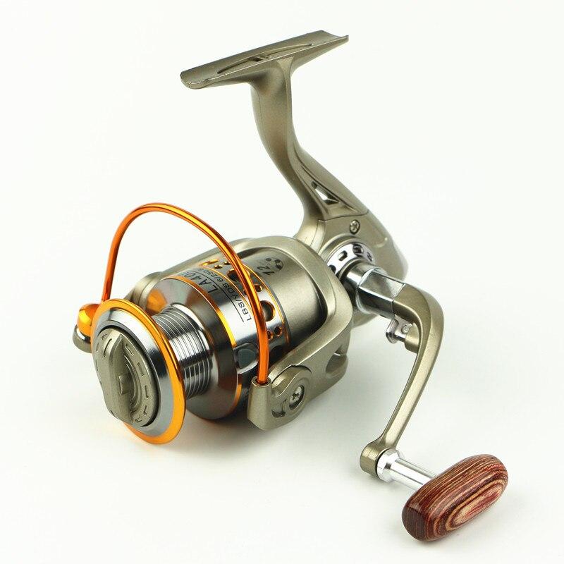 Metal Spinning Fishing Reel 12BB 5,2: 1 Pesca spinning Pesca Carrete Reel alimentador carpa Pesca rueda 2000-7000