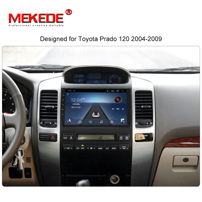 MEKEDE HD 2din 9 Inch Android 8.1 Car DVD Player For Toyota Prado 120 Car Multimedia Player Car Radio GPS Navigation BT Map