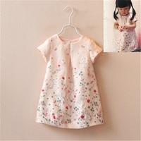 Little Fool Q01029 Novatx Retail High Quality Baby Girls Dress Kids Girl Short Sleevels Clothes Toddler