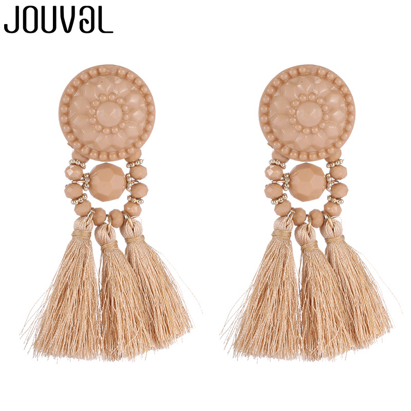 Long Drop Dangle Fringe Earrings Vintage Women Tassel Earrings 9 Colors Boho Statement Brand Jewelry Female Accessories 2