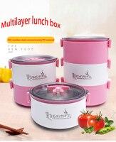 304 thép không gỉ xách 1-3 lớp của thông tư tối thùng kín crisper trưa-box cho trẻ em thực phẩm container