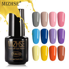MIZHSE 7 ml UV Gel Nagellak UV LED Lakier Hybrydowy Hybrid Nail Gel Poetsmiddelen Vernis Semi Permanant UV LED gel Vernis(China)