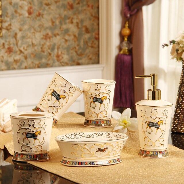 Acheter 5 Pcs Porcelaine Salle De Bains