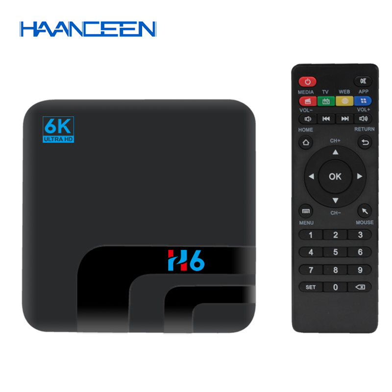 NEWEST H6 Smart TV Box BT Android 8.1 Allwinner Quad Core 64bits 2G/4G+16G/32G Kodi Media Player 6K ULTRA HD TV Set-top Box