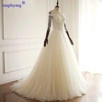 Cliente Ha Fatto 2017 Vestito Da Cerimonia Nuziale Reale di Immagini Bianco Avorio Cina Abiti Da Sposa Illusion Beads Abito Da Sposa Africana