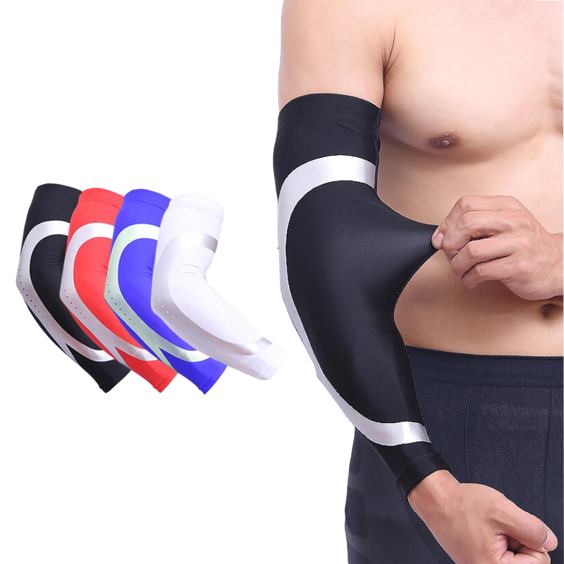Men's Arm Warmers Nice Arm Warmers Running Arm Sleeves Basketball Elbow Pad Fitness Armguards Breathable Quick Dry Uv Protection Sports Cycling Apparel Accessories