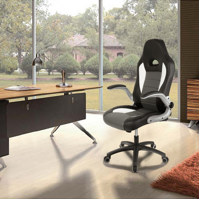 2 Sizes Ergonomic Office Chair Super Computer Game Chair Rotate Armrest Executive Lifting Reclining Racing PU Leather Chair HWC 1