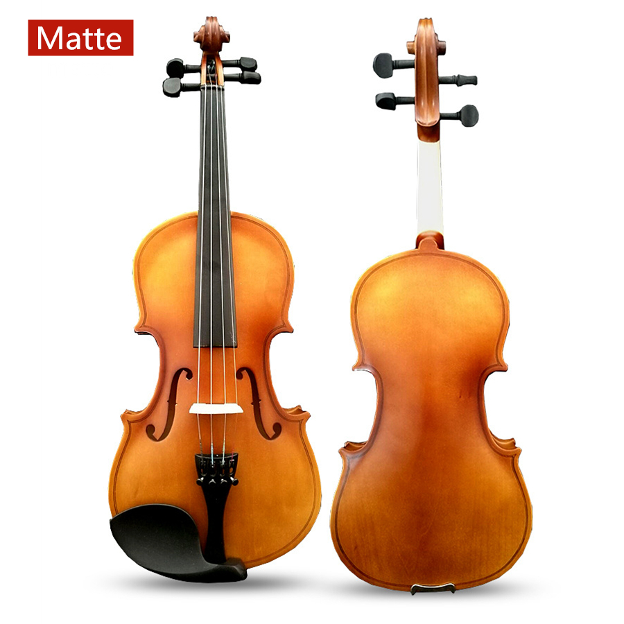4/4 3/4 Matte Violin 1/8 1/2 Basswood Stripe Professional Performance Violin with Case Mute Bow Strings4/4 3/4 Matte Violin 1/8 1/2 Basswood Stripe Professional Performance Violin with Case Mute Bow Strings
