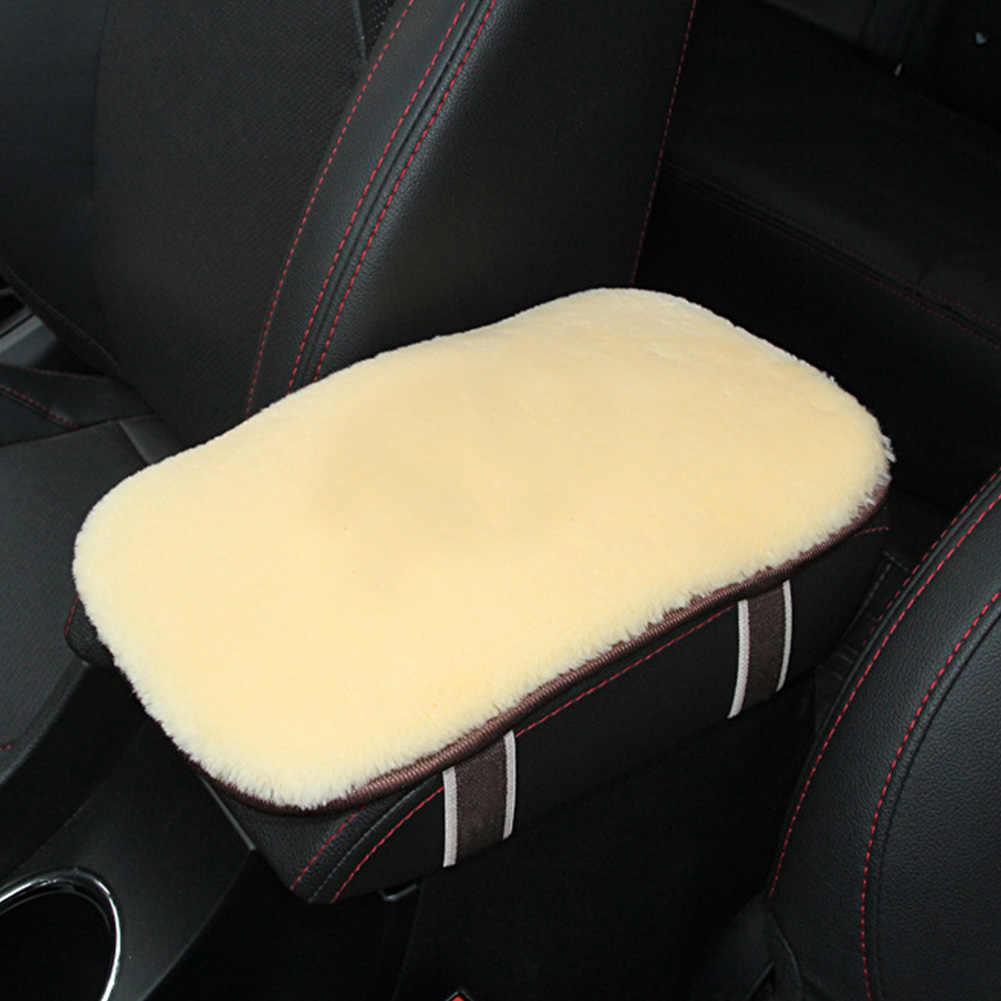 Center กล่องที่นั่งป้องกันฝุ่น Auto ภายในคอนโซลนุ่มป้องกัน Plush Anti Scratch จัดแต่งทรงผม Mat Car Armrest Pad Universal