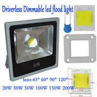 Waterproof LED Flood Light 20W 30W 50W Dimmable Driverless Led 220 265V Projector Garden Search Lighting