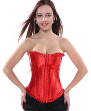 Overbust corset / lace up / boned