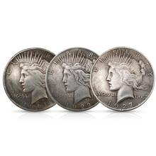 1921/1922/1927 Статуя Свободы и мира Монета серебряный доллар Орел коллекция 38 мм