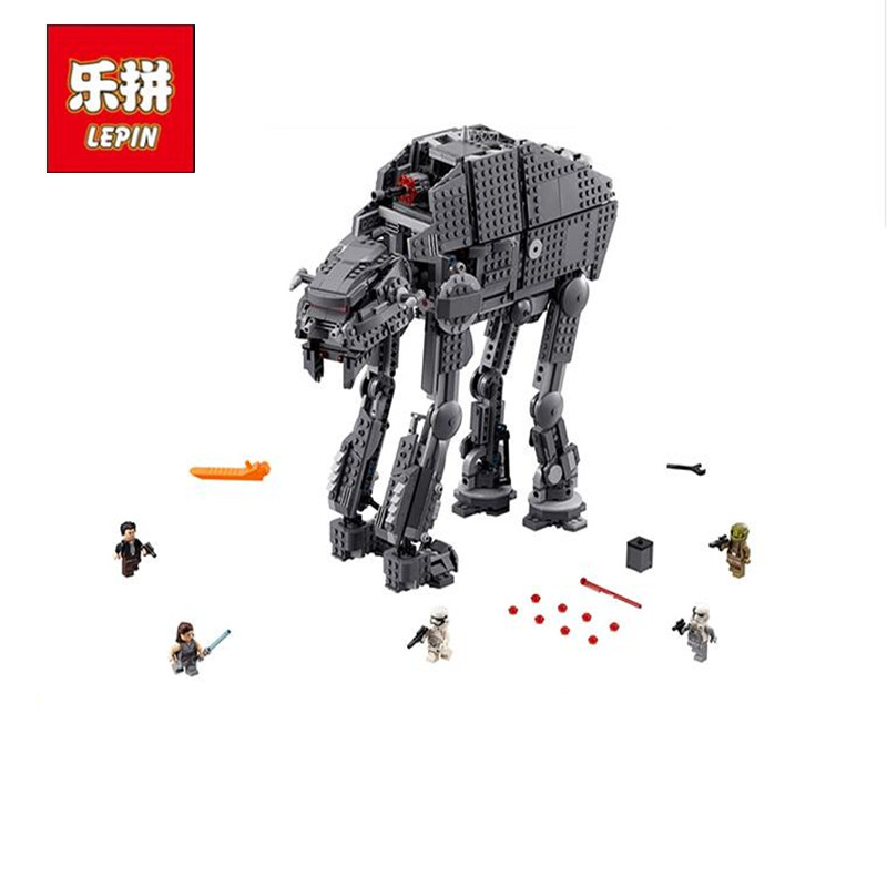 Lepin 05130 The First order heavy assault walker Set 1541Pcs Star Plan Series Building Blocks Bricks Wars Model Toys Gifts 75189