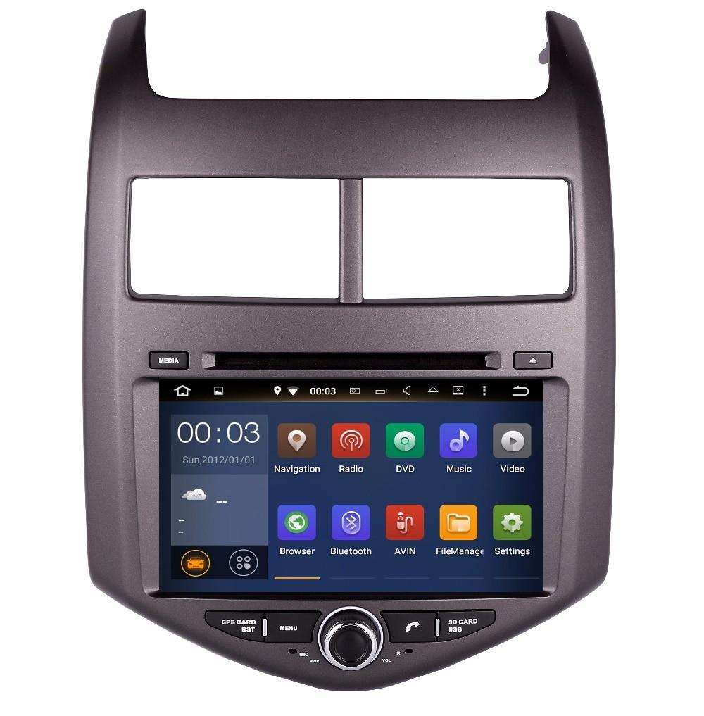 Новый Octa (8) -core Android 6.0 dvd-плеер автомобиля для Chevrolet Aveo Соник Автомобильный GPS аудио стерео Штатная Мультимедиа Навигация