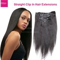 Nice Brazilian straight clip in human hair extensions,Unprocessed Easy sticking and removing wavy virgin hair clip ins Free DHL