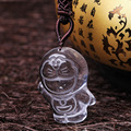 A natural white crystal tea crystal duo la Jingle pendant necklace gift accessories