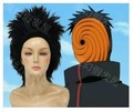 Naruto Akatsuki Tobi cosplay wig black short Anime cos costume wig Halloween party hair wig free shipping