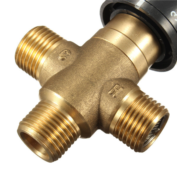 Water Temperature Mixing Valve Thermostatic Shower Mixer Controls Tempering Taps