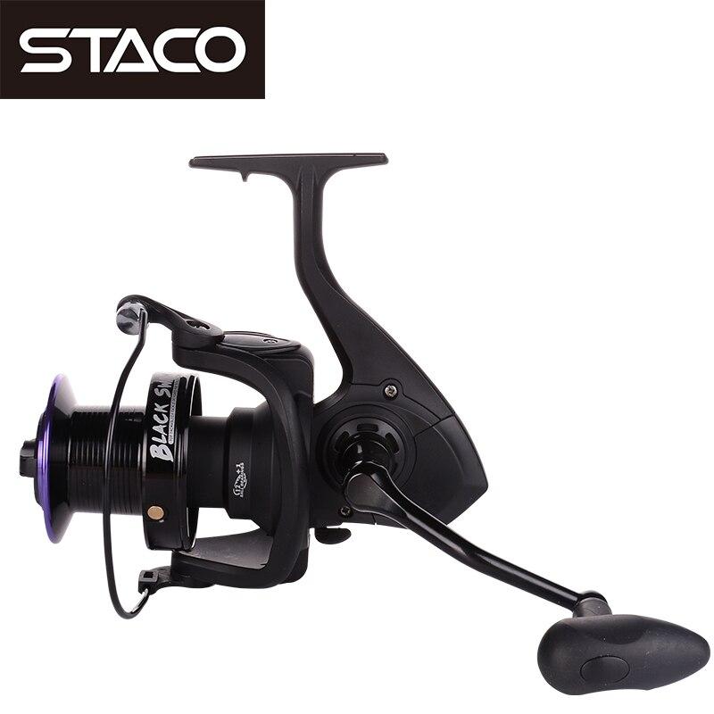 STACO 4000-10000 Series Spinning Fishing Reel 12+1BB Saltwater Carp Fishing Reel Wheel 5.2:1/4.9:1/4.1:1 One Way System