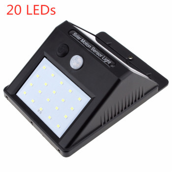 1-8pcs 20LEDs Solar Power Light Motion Sensor Wall Lighting Outdoor Garden Decoration Fence Stair Pathway Yard Waterproof Lights 3