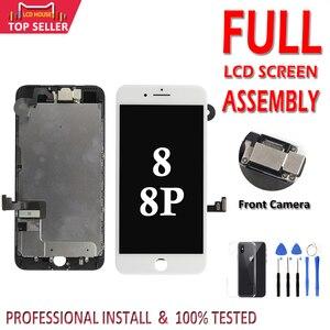 Image 1 - חדש AAA מלא סט LCD מסך עבור iPhone 8 בתוספת LCD מסך תצוגת 3D מגע Digitizer 8 בתוספת מסך מלא עצרת החלפה