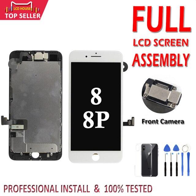חדש AAA מלא סט LCD מסך עבור iPhone 8 בתוספת LCD מסך תצוגת 3D מגע Digitizer 8 בתוספת מסך מלא עצרת החלפה