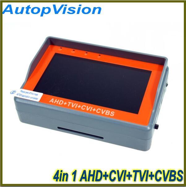 NEW 4.3 inch four in one HD CCTV tester monitor AHD CVI TVI CVBS analog cameras testing 1080P 960P 720P PTZ audio 12V ips touch screen cvbs ahd dahua cvi tvi sdi ip cameras analog cctv camera tester