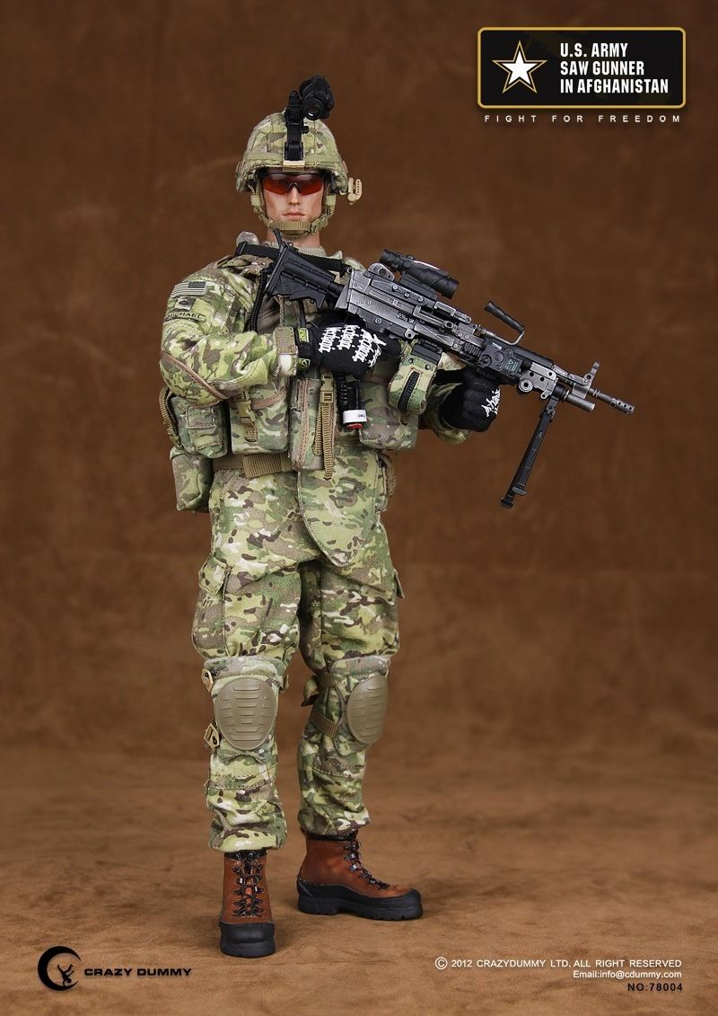 78004 1/6 Scale US Army Saw Gunner In Afghanistan Action Figure Collection Model Toys