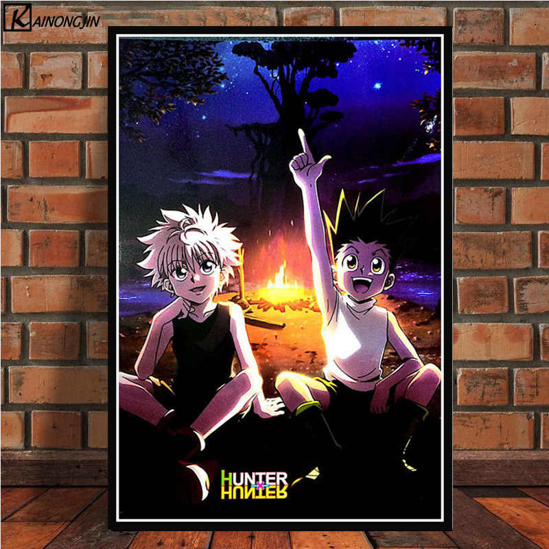 Posters and Prints Hunter x Hunter Poster Dragon Ball Classic Japan Anime Canvas Painting Wall Art Picture for Room Home Decor