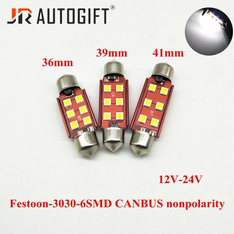 Festoon C5W 36mm 10x36 SV8,5 LED CANBUS Indicator Car Bulbs Blue