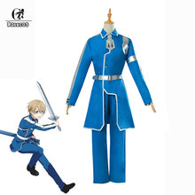 ROLECOS SAO Eugeo Cosplay Costume Sword Art Online Alicization Cosplay Costume Anime Men Outfit Blue Uniform Halloween(China)