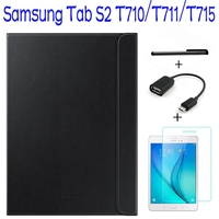 Official Original 1 1 Smart Leather Cover For Samsung Galaxy Tab S2 8 0 T710 T711