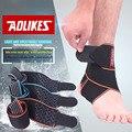 Aolikes 1 pcs silicone alça de apoio do tornozelo futebol profissional de basquete ajustável tornozelo ankle brace proteção manga