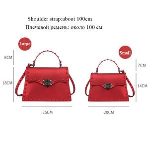 Image 3 - Rivet Women Messenger Bags Luxury Handbags Women Bags Designer PVC Jelly Bag Fashion Shoulder Bag Females PU Leather Handbags
