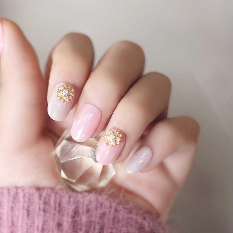 New super beautiful cream pure color gel nail tips set 24pc